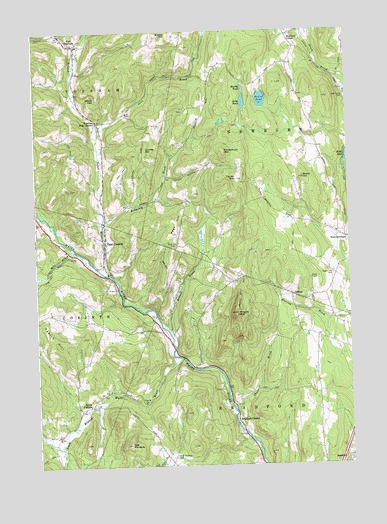 East Corinth, VT USGS Topographic Map