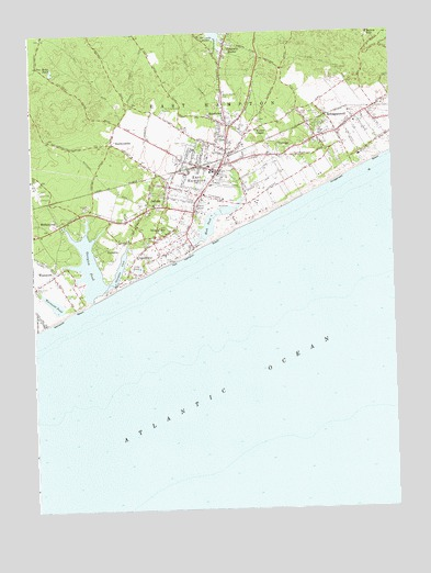 East Hampton, NY USGS Topographic Map