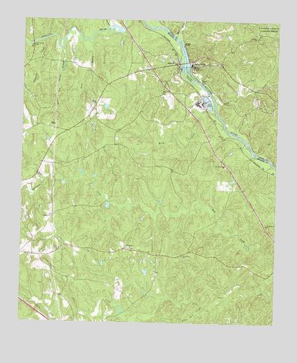 East Juliette GA Topographic Map TopoQuest - Juliette georgia map