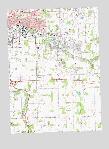 East Lansing MI Topographic Map TopoQuest - Lansing map