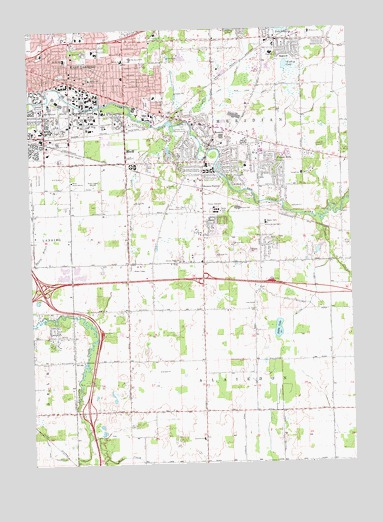 East Lansing, MI Topographic Map - TopoQuest