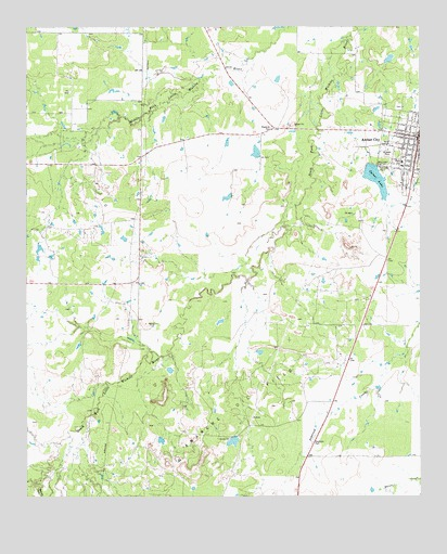 Archer City West, TX USGS Topographic Map