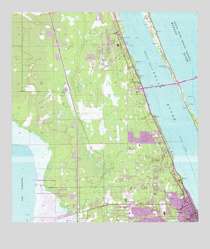 Eau Gallie FL Topographic Map TopoQuest - Florida topographic map