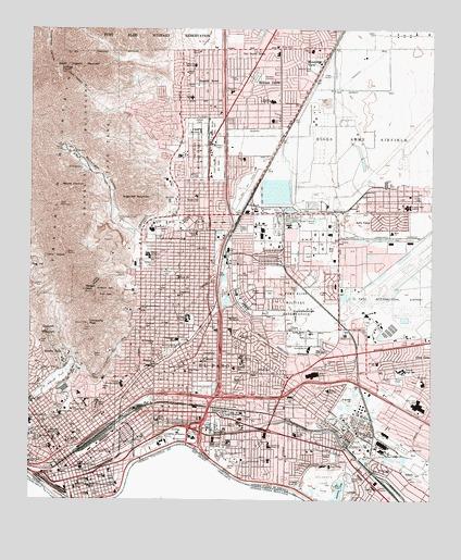 El Paso, TX Topographic Map - TopoQuest