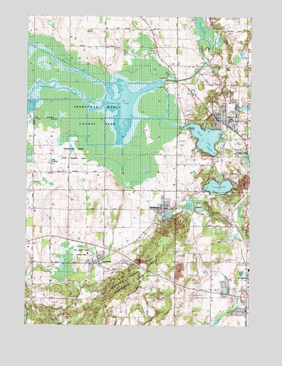 Elkhart Lake Wi Topographic Map Topoquest