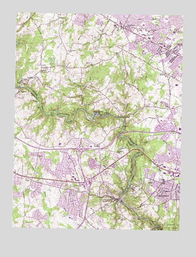 Ellicott City, MD USGS Topographic Map