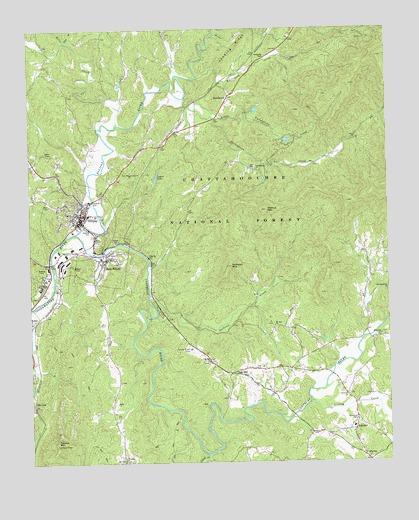 Map Of Georgia Ellijay.Ellijay Ga Topographic Map Topoquest