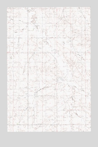 Elm Coulee, MT USGS Topographic Map