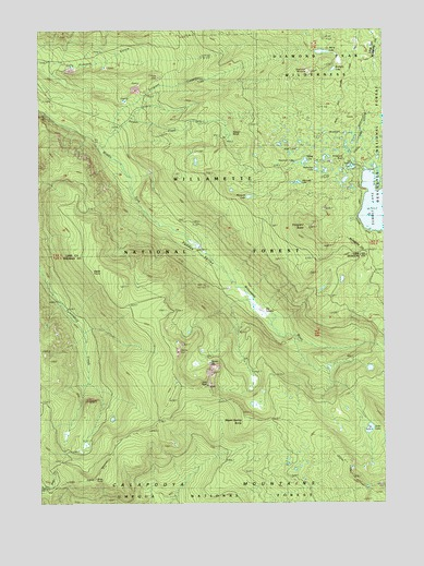 Emigrant Butte, OR USGS Topographic Map