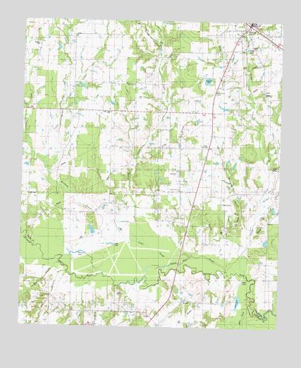 Emory South, TX USGS Topographic Map