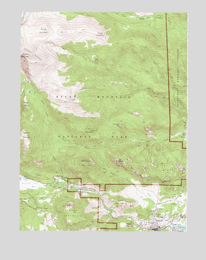 Estes Park, CO USGS Topographic Map