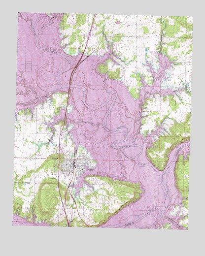 Eufaula, OK Topographic Map - TopoQuest