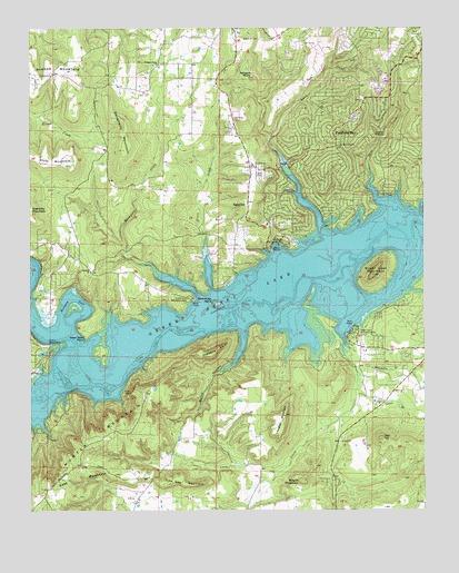 Fairfield Bay Ar Topographic Map Topoquest