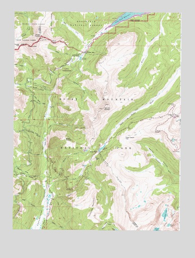 Fall River Pass, CO USGS Topographic Map
