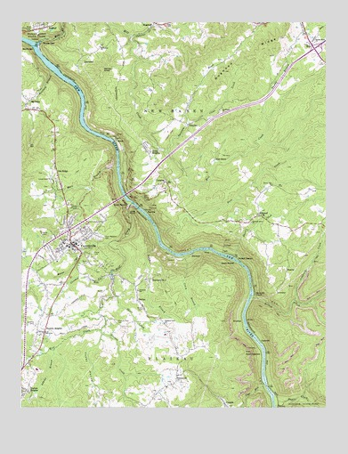 Fayetteville, WV Topographic Map - TopoQuest
