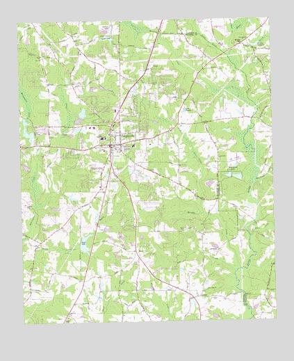 Fayetteville GA Topographic Map TopoQuest - Georgia map fayetteville