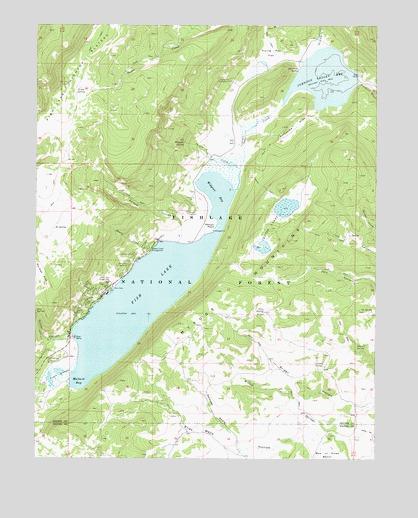 Fish Lake, UT Topographic Map   TopoQuest