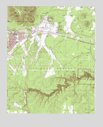 Flagstaff East AZ Topographic Map TopoQuest - Arizona topographic map