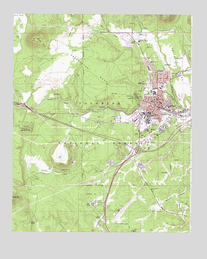 Flagstaff West AZ Topographic Map TopoQuest - Arizona topographic map