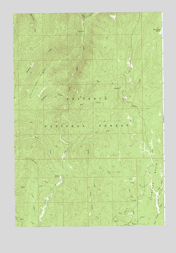 Florence, ID USGS Topographic Map