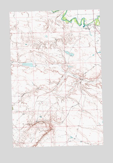 Fort Belknap Agency, MT USGS Topographic Map