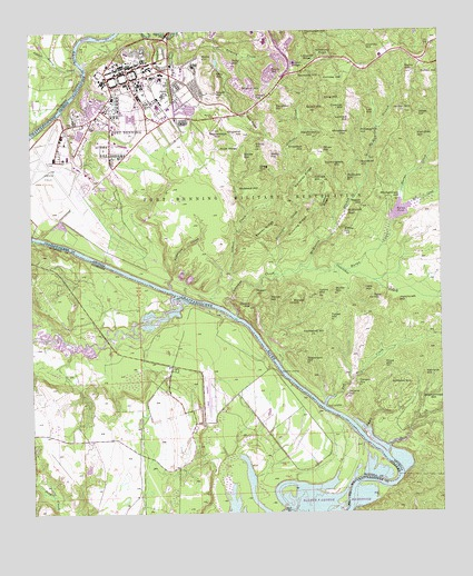 Fort Benning GA Topographic Map TopoQuest - Topographical map of georgia