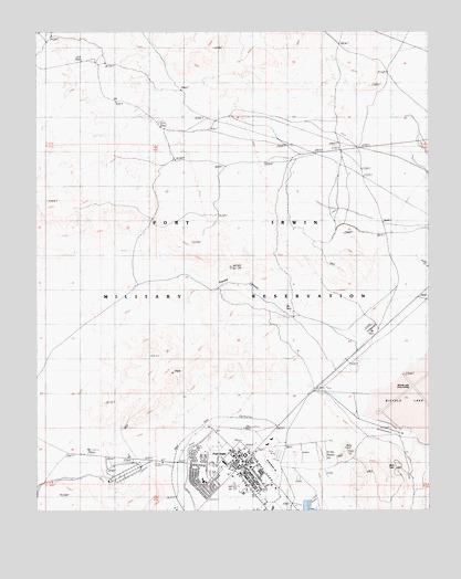 Fort Irwin Map Fort Irwin, CA Topographic Map   TopoQuest Fort Irwin Map