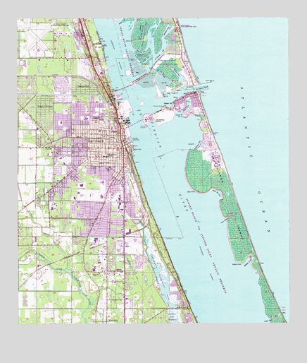 Topography Map Florida.Fort Pierce Fl Topographic Map Topoquest