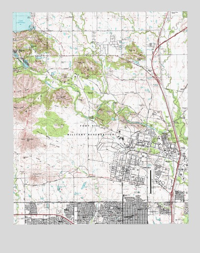Fort Sill Oklahoma Map Fort Sill, OK Topographic Map   TopoQuest