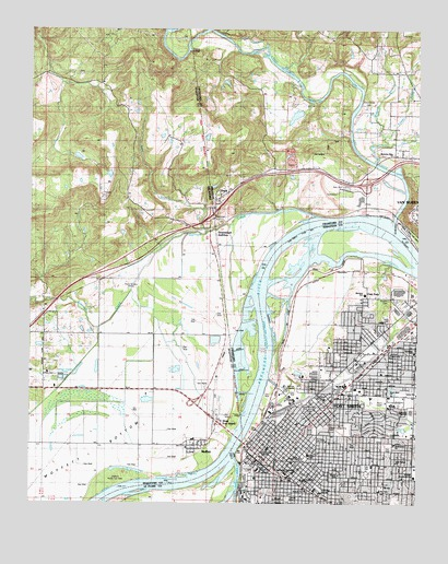 Fort Smith, AR Topographic Map - TopoQuest