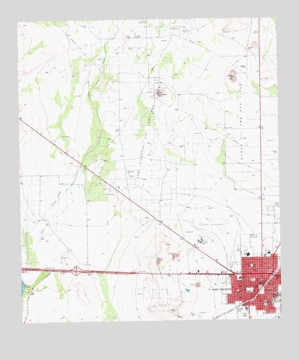 Fort Stockton West, TX Topographic Map - TopoQuest