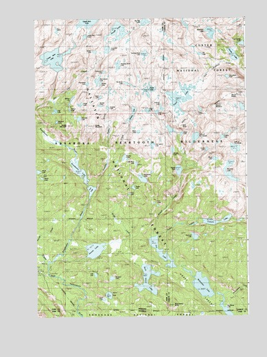 Fossil Lake, MT USGS Topographic Map