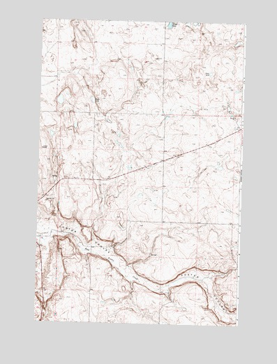 Foster Coulee, WA USGS Topographic Map