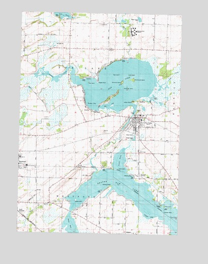 Fox Lake WI Topographic Map TopoQuest - Wisconsin topographic lake maps