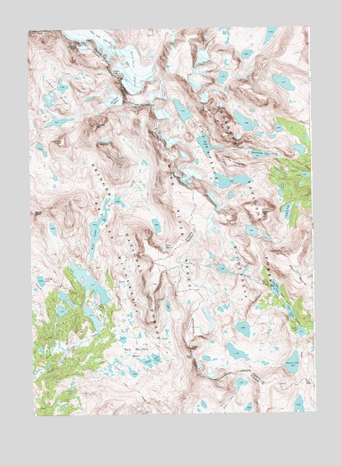 Fremont Peak South, WY USGS Topographic Map