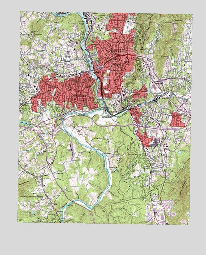 Asheville, NC Topographic Map   TopoQuest
