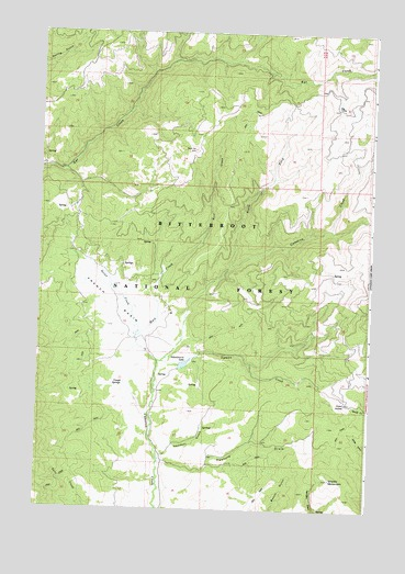 French Basin, MT USGS Topographic Map