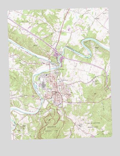 Front Royal Va Topographic Map Topoquest