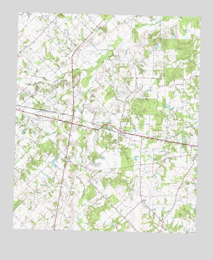 Fruitvale, TX USGS Topographic Map