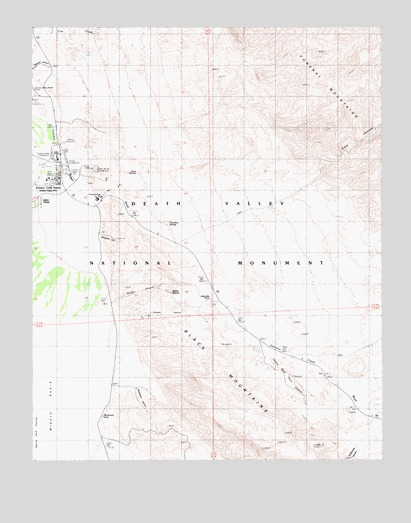 Furnace Creek, CA USGS Topographic Map