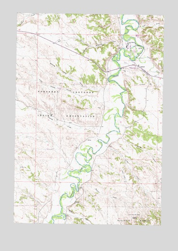 Ashland Montana Map.Ashland Mt Topographic Map Topoquest