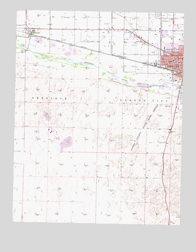Garden City West Ks Topographic Map Topoquest