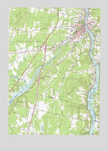 Gardiner, ME Topographic Map - TopoQuest on