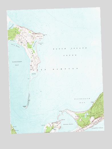 Gardiners Island East, NY USGS Topographic Map