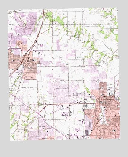 Garland Texas Map >> Garland Tx Topographic Map Topoquest