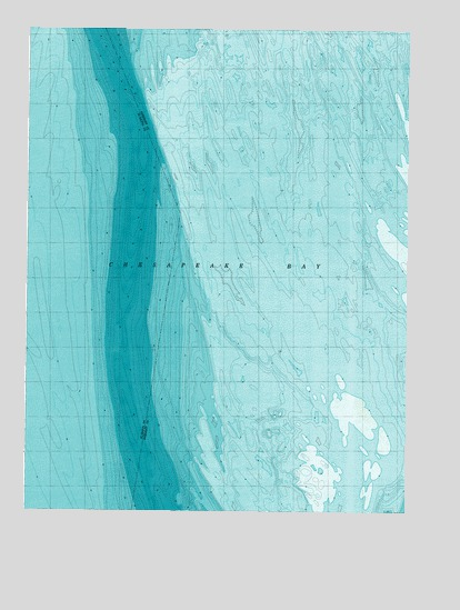 Chesapeake Bay Topographic Map.Chesapeake Bay 3 All Water Md Topographic Map Topoquest