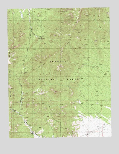 Adaven, NV USGS Topographic Map