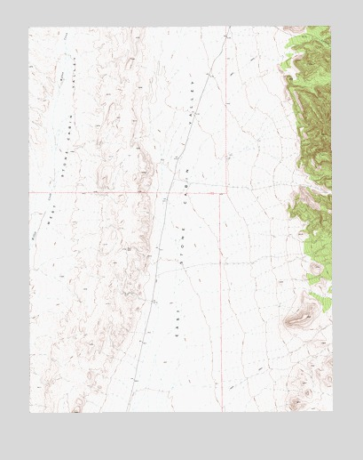Georges Canyon Rim SE, NV USGS Topographic Map