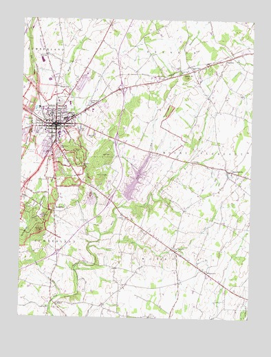 Gettysburg Topographic Map.Gettysburg Pa Topographic Map Topoquest