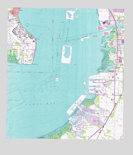 Gibsonton, FL Topographic Map - TopoQuest